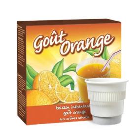 boisson pré-dosée froide goût orange x 20 dluo depassee