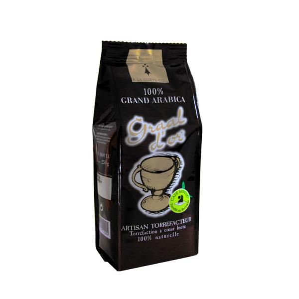 café moulu graal d'or 100% arabica brocéliande - 125 g