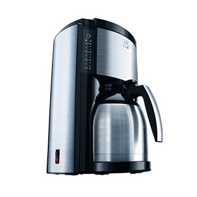 cafeti re filtre look selection acier bross noir. Black Bedroom Furniture Sets. Home Design Ideas