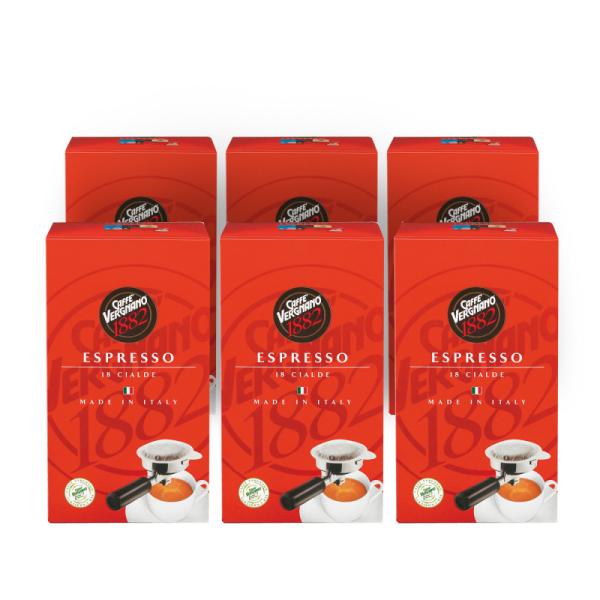 dosettes ese café espresso caffè vergnano x 18