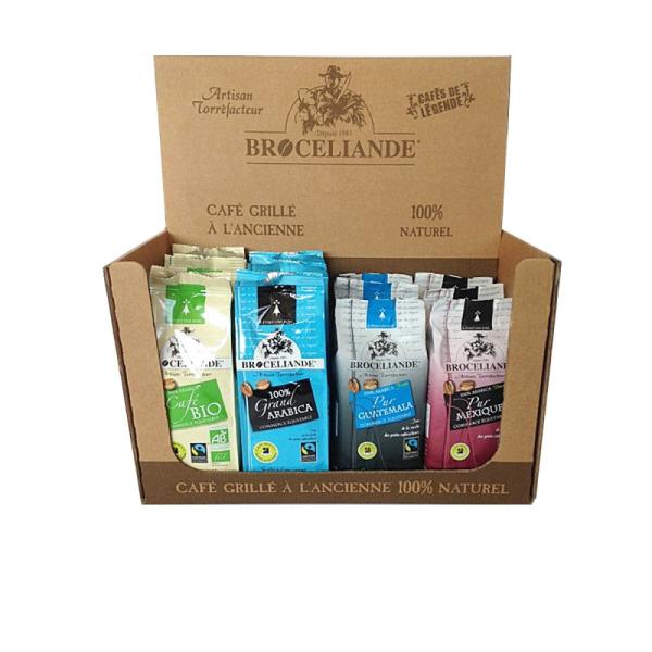 panaché café moulu commerce equitable brocéliande - 12 x 250 g