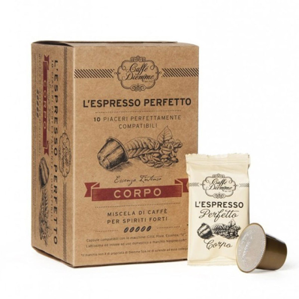 capsules nespresso® compatibles corpo caffè diemme x 10