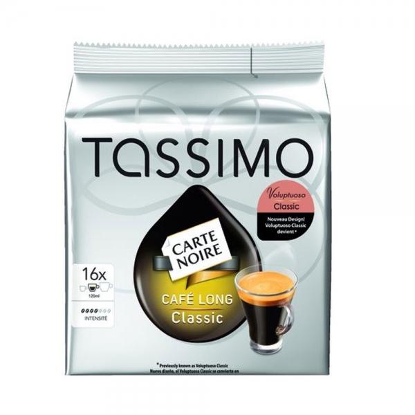 16 dosettes tassimo carte noire café long classic