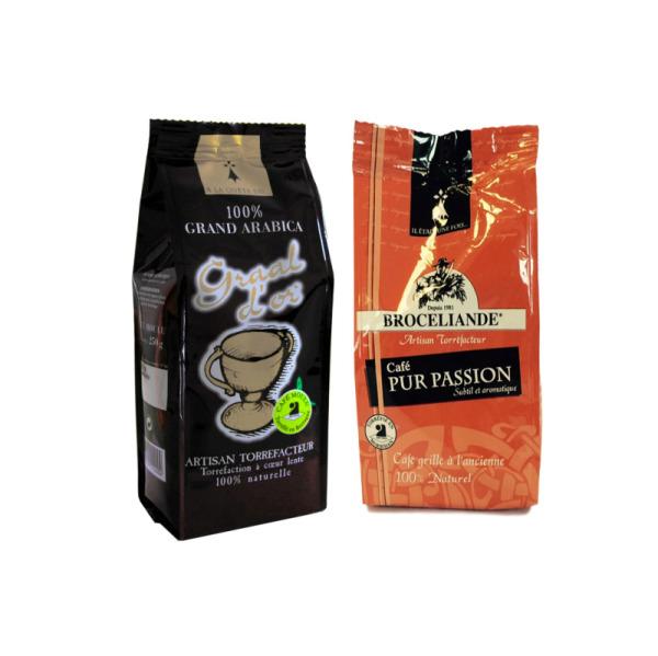 café moulu graal d'or et pur passion brocéliande - 2 x 125 g