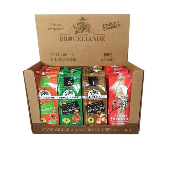 panaché café moulu 100% arabica brocéliande - 12 x 250 g