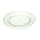 Assiette en plastique rigide vert d\'eau (26 cm) x 20