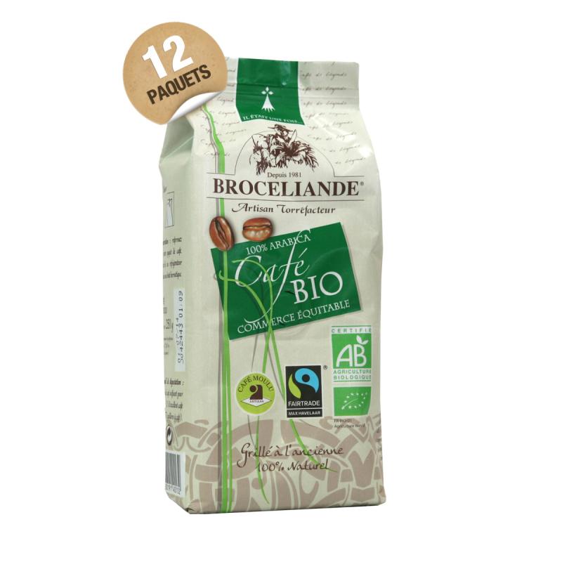 12 paquets de 250 g de caf moulu 100 arabica bio et - Dosette ese grande surface ...