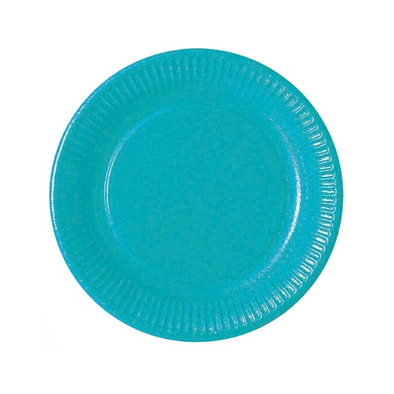 assiette en carton jetable bleu turquoise. Black Bedroom Furniture Sets. Home Design Ideas