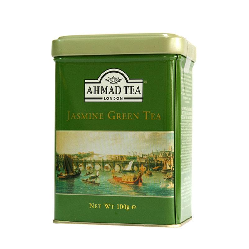Th vert en vrac au jasmin ahmad tea bo te de 100g th en vrac - Boite a the en vrac ...