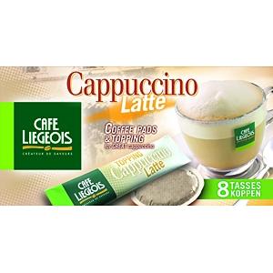dosettes pour senseo cappuccino latte caf li geois x 64 dosettes senseo compatible. Black Bedroom Furniture Sets. Home Design Ideas