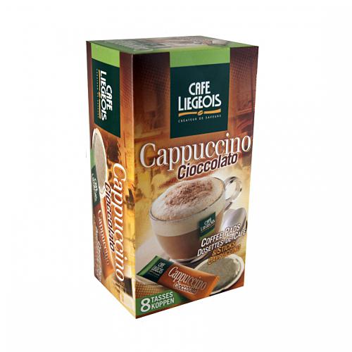 8 dosettes senseo cappuccino cioccolato dosettes senseo compatible. Black Bedroom Furniture Sets. Home Design Ideas