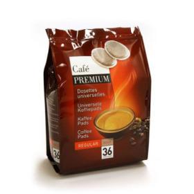 pack de 36 dosettes souples caf premium regular doux pour senseo. Black Bedroom Furniture Sets. Home Design Ideas