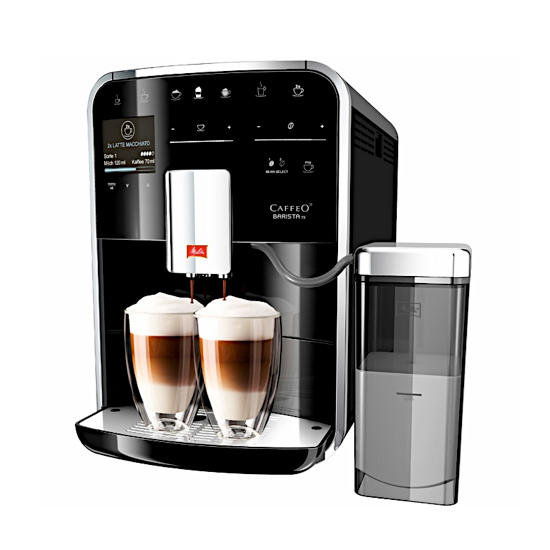 machine expresso caffeo baristsa ts noir de chez melitta. Black Bedroom Furniture Sets. Home Design Ideas