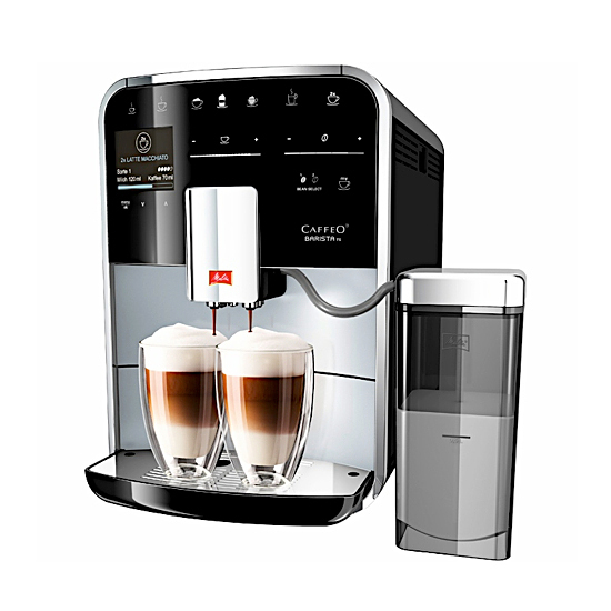machine expresso caffeo baristsa ts argent et noir de chez melitta. Black Bedroom Furniture Sets. Home Design Ideas