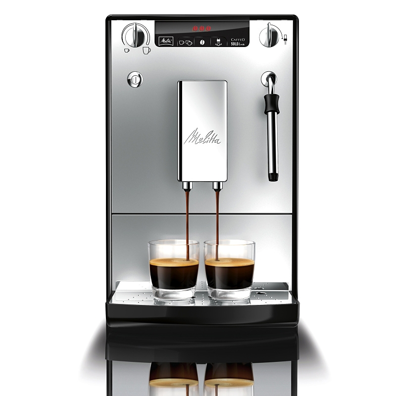 machine caf automatique expresso caffeo solo milk argent et noire machines caf. Black Bedroom Furniture Sets. Home Design Ideas