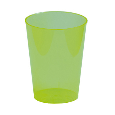 6 verres 30 cl en plastique rigide vert kiwi. Black Bedroom Furniture Sets. Home Design Ideas