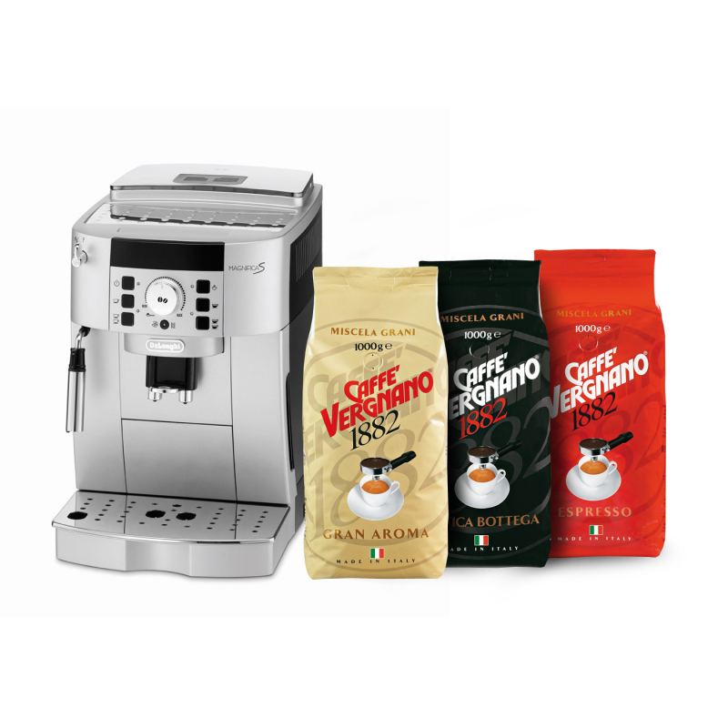 Machine caf de longhi 3 kg de caf en grain vergnano machines caf - Machine a cafe en grain ...