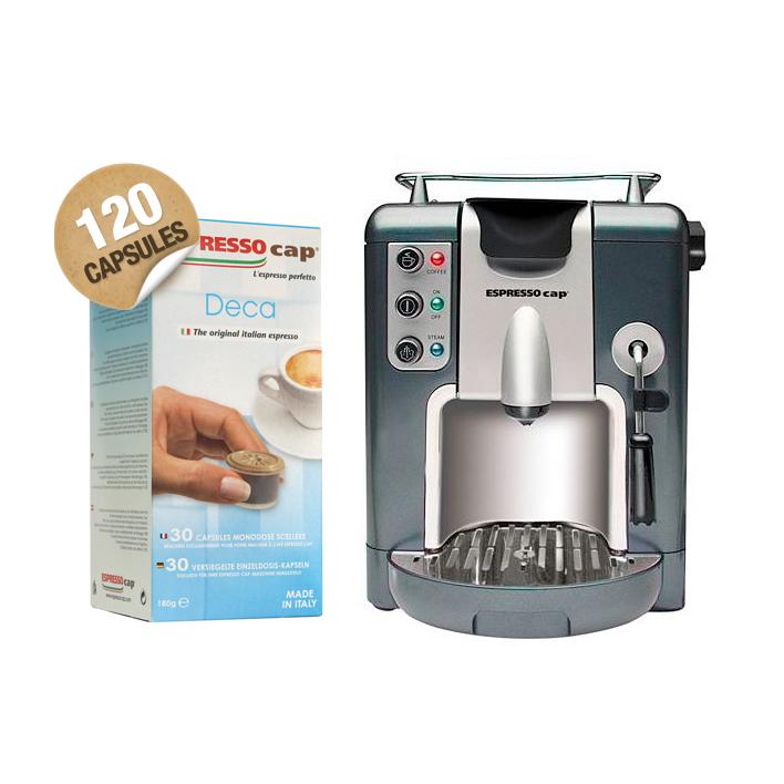 machine capsules 120 capsules d caf in de la marque espresso cap machines caf. Black Bedroom Furniture Sets. Home Design Ideas
