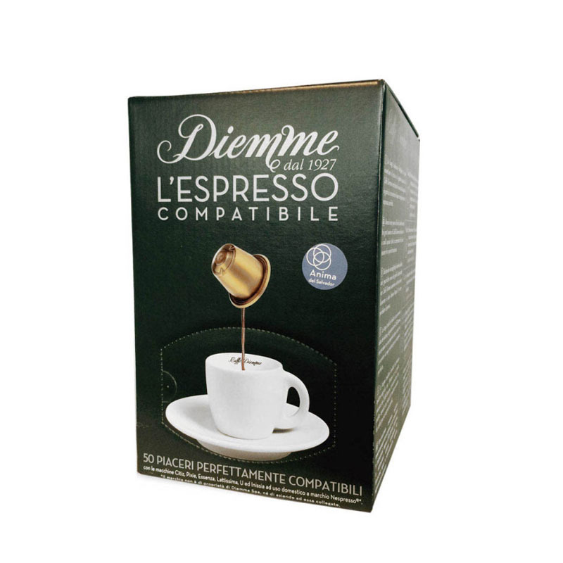 capsules nespresso compatibles caff diemme spirito del salvador x 50. Black Bedroom Furniture Sets. Home Design Ideas