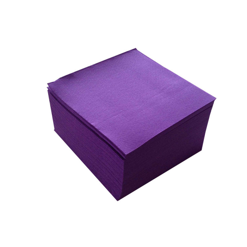 serviette de table en papier violet microgaufr double. Black Bedroom Furniture Sets. Home Design Ideas