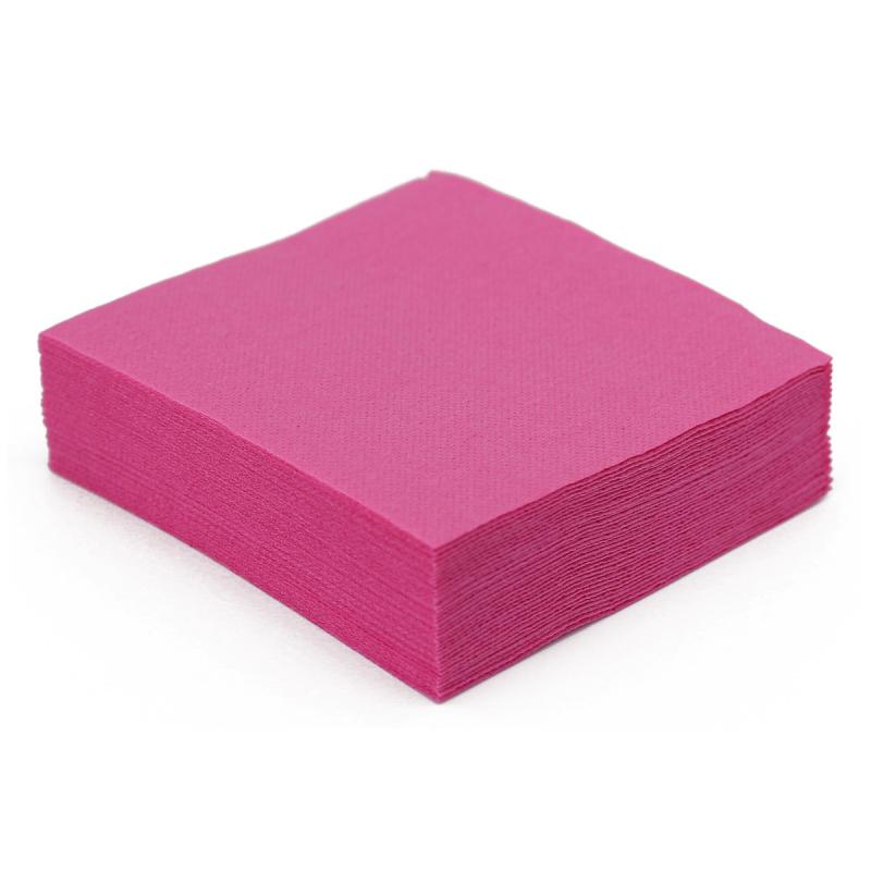 serviette de table en papier fuchsia microgaufr 233 233 paisseur 38 cm nappes et serviettes