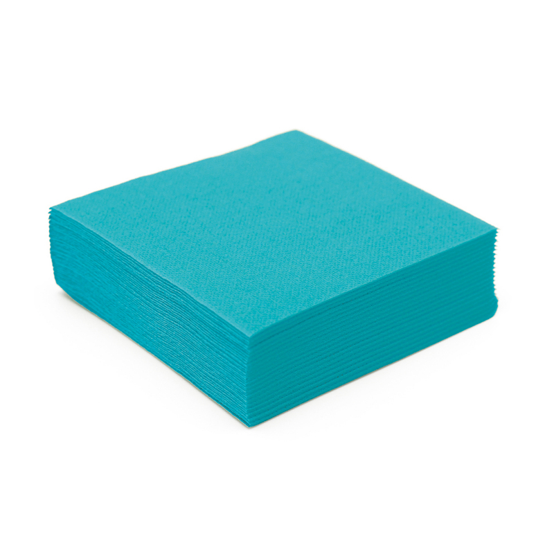 serviette en papier turquoise microgaufr 233 233 paisseur 25 cm nappes et serviettes