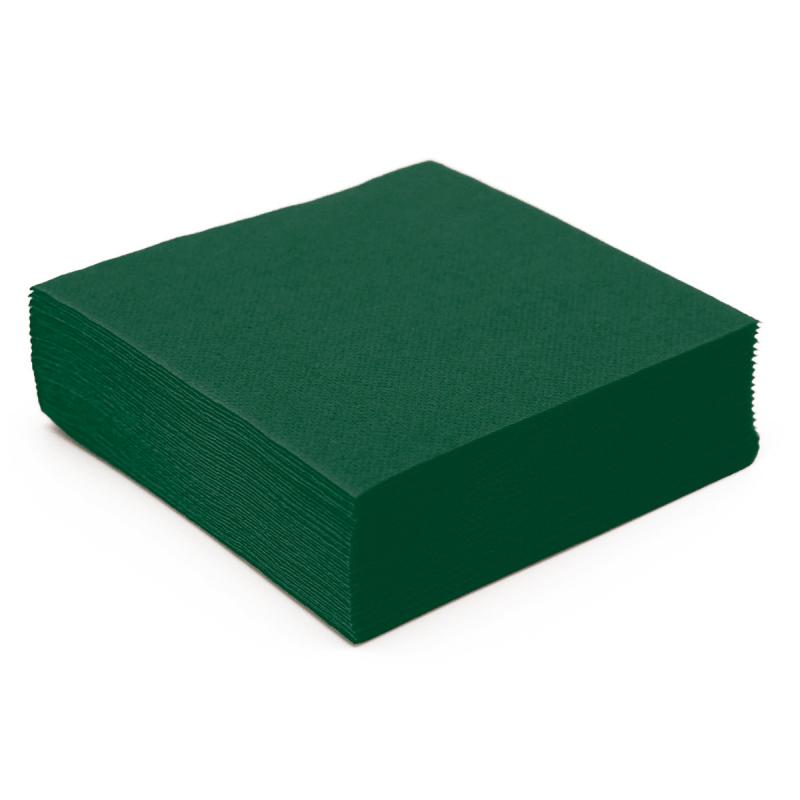Serviette de table en papier vert sapin microgaufr double - Sapin en serviette en papier ...