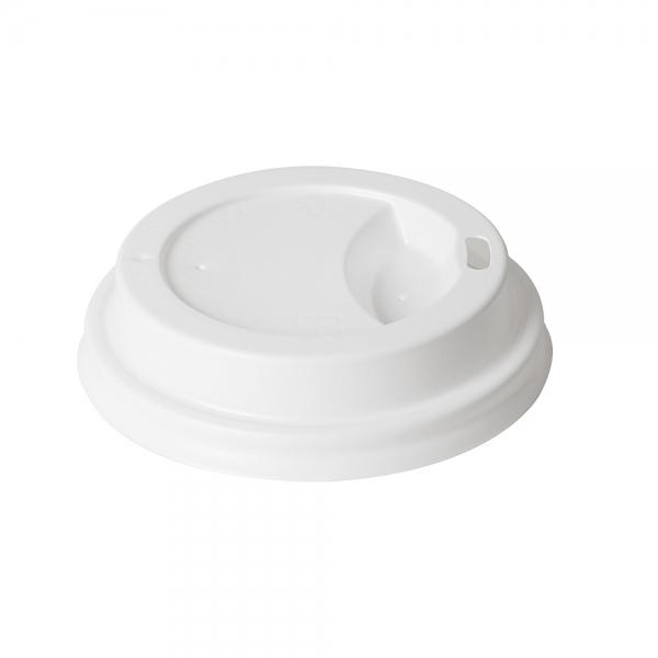 40 couvercles en plastique blanc pour gobelets izza 24 cl. Black Bedroom Furniture Sets. Home Design Ideas